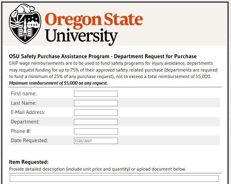 osu safety purchase assistance program