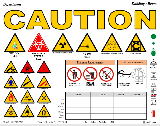 New Caution Sign