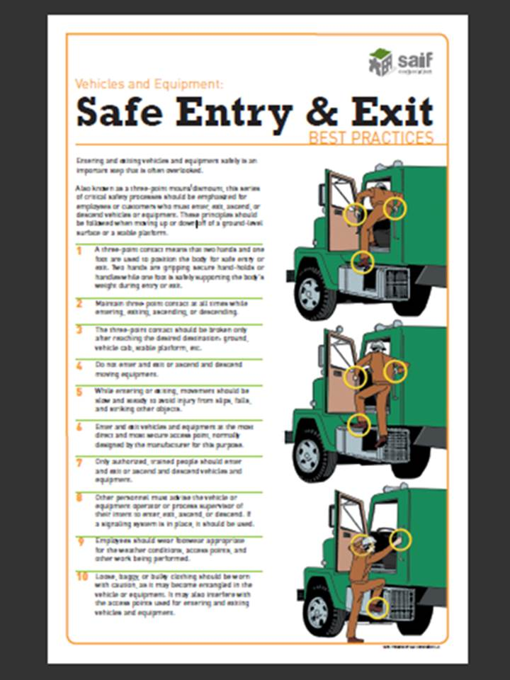 SAIF Safe Entry and Exit Best Practices for Vehicles