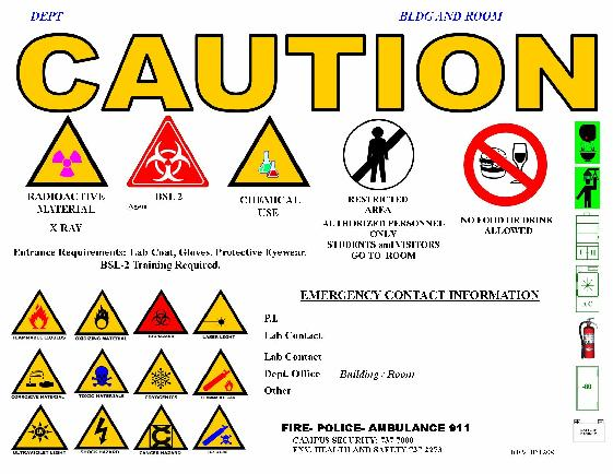 Lab Caution Sign Request Environmental Health And Safety Oregon