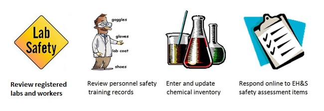 lab safety functions on web